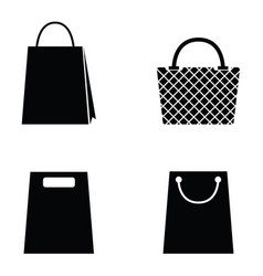 Collection of shopping bag icons vector