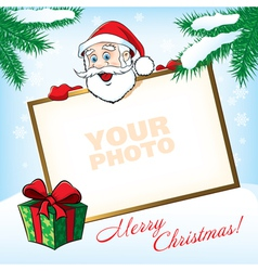 Cristmas Santa Greeting card vector image