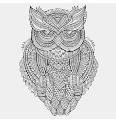 Decorative ornamental owl vector