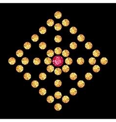 Diamond ruby rhomboid decor vector