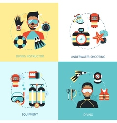 Diving design concept vector