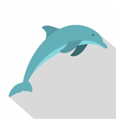 Dolphin icon flat style vector
