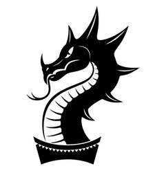 dragon head sign vector image