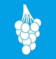 grapes icon white vector image