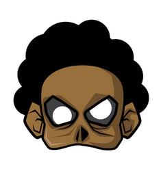Halloween paper mask - afro zombie vector