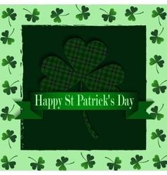 Happy Saint Patricks Day Greeting Card vector image