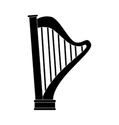 Harp instrument musical icon vector