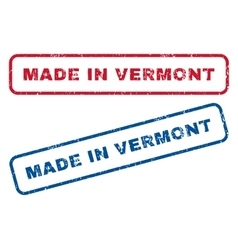 Made in vermont rubber stamps vector