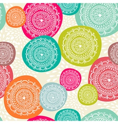 Merry Christmas circle seamless pattern background vector image vector image