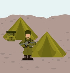 Military Armed Forces design vector image