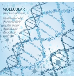 Molecule structure background for communication vector image