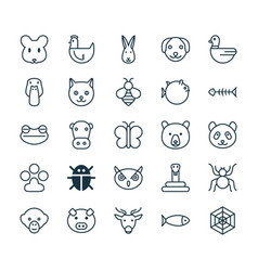 Nature icons set collection of spider vector