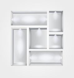 niche gallery interior vector image