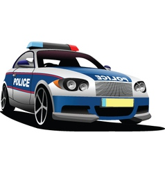 Police car vector image vector image
