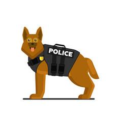 Police dog in uniform vector