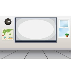 Room with white board in the center vector