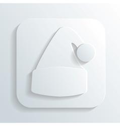 Santa claus hat icon vector