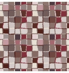 Seamless geometric mosaic checked pattern vector image vector image