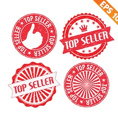 Stamp sticker top seller collection - - EPS vector image