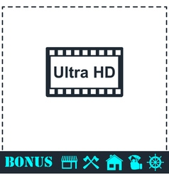 Tv ultra hd icon flat vector