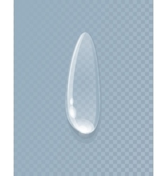 Water liquid drop isolated on transparent vector