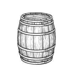 Wine or beer barrel vector