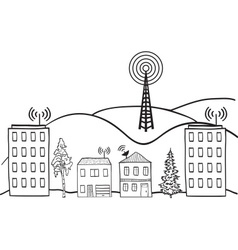 Wireless signal of internet vector