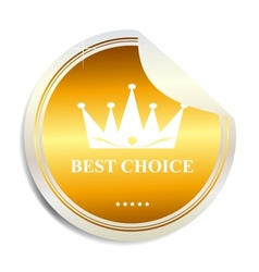 Best choice label sticker vector image