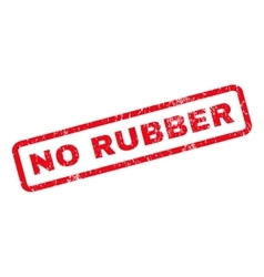 No Rubber Rubber Stamp vector image