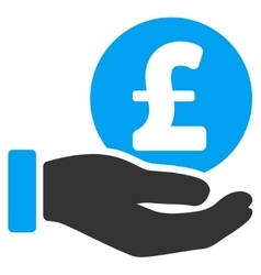 Pound Coin Payment Hand Flat Icon vector image