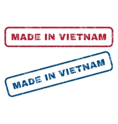 Made in vietnam rubber stamps vector