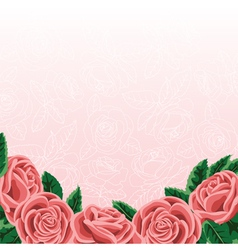 roses border vector image
