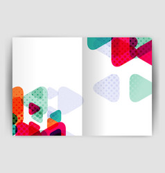 Triangle business annual report cover print vector