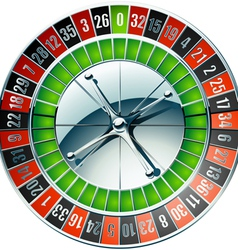 Detailed casino roulette wheel vector
