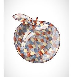 Abstract apple vector