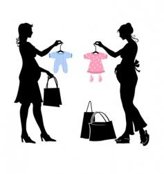 Pregnant women vector