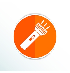 Flashlight icon torch pocket light shine isolated vector