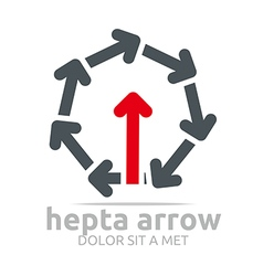 Logo hepta arrow design element symbol icon vector