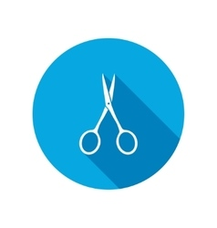 Scissors tool icon cut symbol vector
