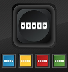 A royal straight flush playing cards poker hand in vector