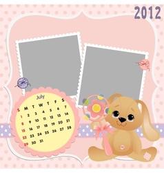 Babys monthly calendar for 2012 vector