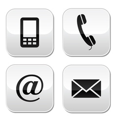 Contact buttons set - email mobile phone vector