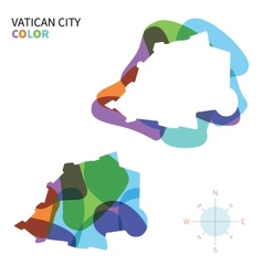 Abstract color map of vatican city vector