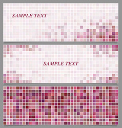 Abstract square mosaic banner design template set vector