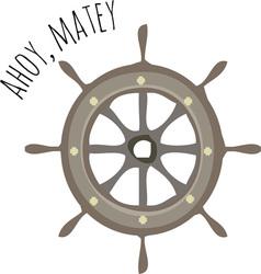 Ahoy Matey vector image