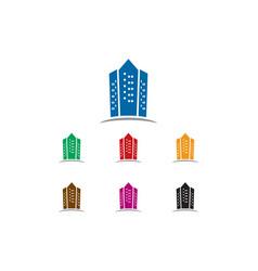apartment logo vector image vector image