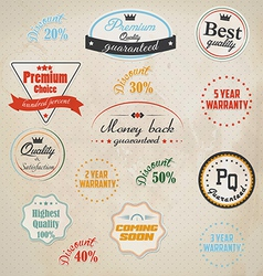 Badge and labels vector