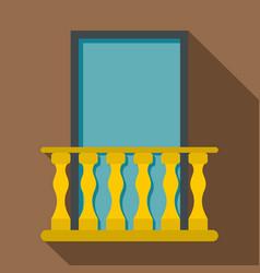 Balcony icon flat style vector