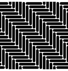 Black and white simple geo herringbone seamless vector
