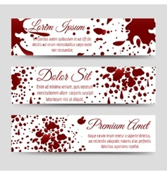 Blood splashes horizontal banners templates vector image